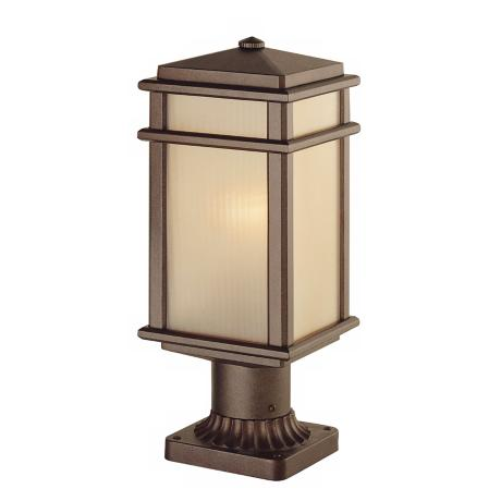 "Murray Feiss Mission Lodge 16"" High  Outdoor Post Light"