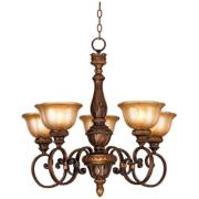"Illuminati Collection Silver Patina 28"" Wide Chandelier"