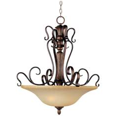 "Sausalito Filbert Finish 27"" Wide 3-Light Pendant Chandelier"
