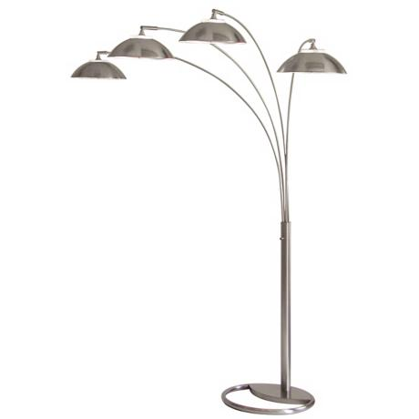 Saucer Four Light Arc Floor Lamp