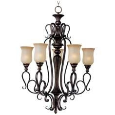 "Sausalito Filbert Finish 28"" Wide 5-Light Chandelier"