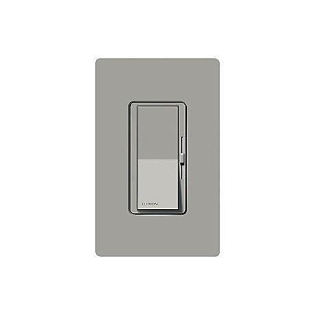 Lutron Diva Gray Electronic Single Pole Preset Dimmer