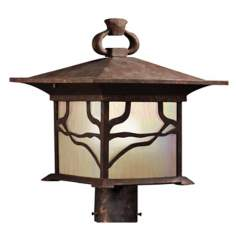 "Kichler Distressed Copper 15"" High Outdoor Post Light"
