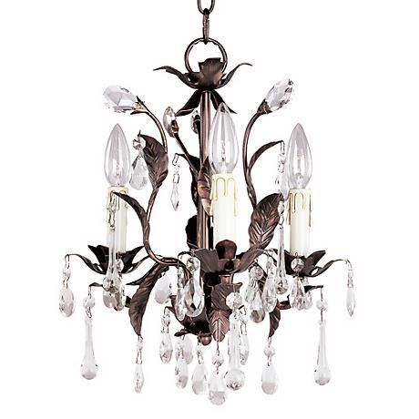 Grove Collection Romantic Three Light Chandelier