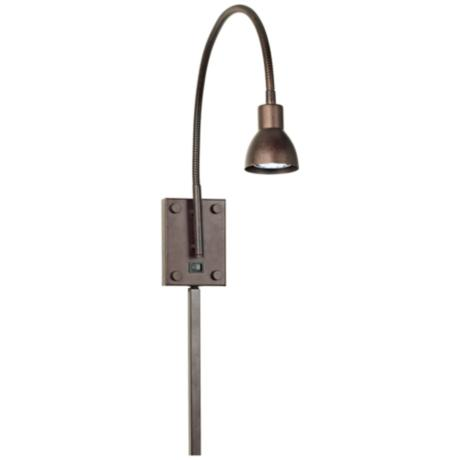 LED Bronze Gooseneck Plug-In Swing Arm Wall Lamp
