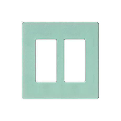 Lutron Diva Sea Glass SC Double Gang Wallplate