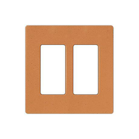 Lutron Diva Terracotta SC Double Gang Wallplate