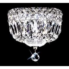 "James R. Moder Prestige Crystal 8"" Wide Ceiling Light"