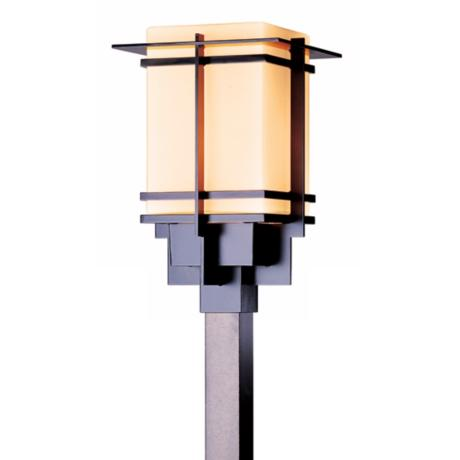 "Hubbardton Forge Tourou Smoke 19 1/4"" High Post Mount"