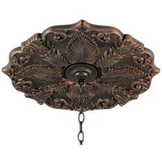 "Classic Valencia Bronze 24"" Wide Ceiling Medallion"