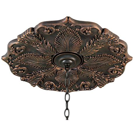 "Classic Roman Bronze 24"" Wide Ceiling Medallion"