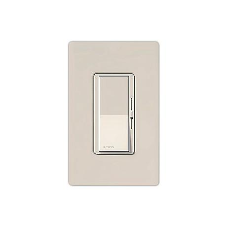 Lutron Diva SC 600W Single Pole Taupe Dimmer