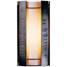 "Hubbardton Forge Textured Panels 12"" High Outdoor Wall Light"