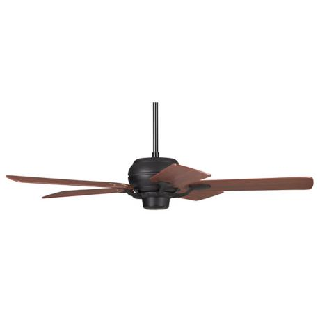 "52"" Casa Optima Matte Black Cherry Blades Ceiling Fan"