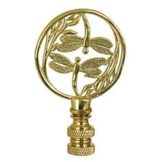 Brass Dragonflies Lamp Shade Finial