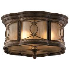 "Valais Collection Bronze 16"" Wide Flushmount Ceiling Light"