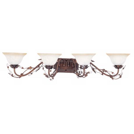 "Elegante Collection 38 1/2"" Wide Bronze Bathroom Fixture"