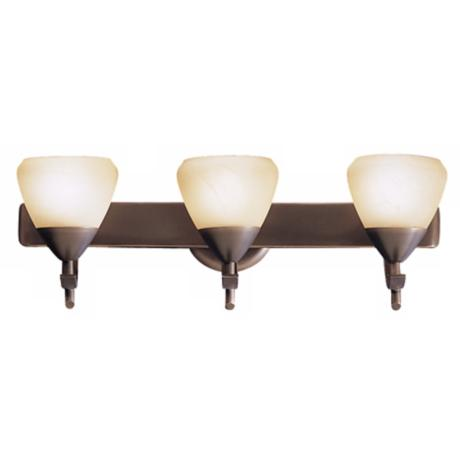 "Olympia Bronze 20"" Wide Bathroom Light Fixture"