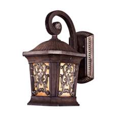 "Jessica McClintock 13 3/4"" High Bronze Outdoor Wall Light"
