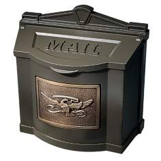Metallic Bronze with Antique Bronze Wall Mount Mailbox