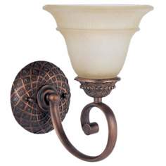 Brighton Collection Dark Gold Single Light Wall Sconce
