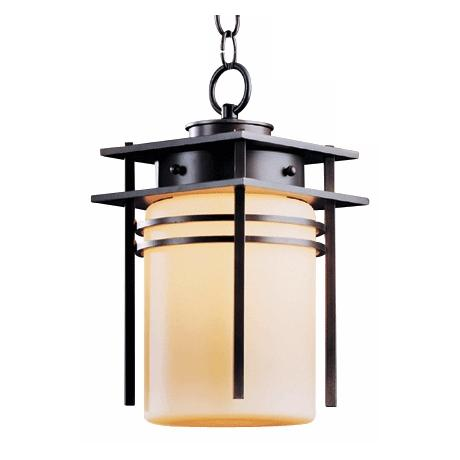 "Hubbardton Forge Banded 13 1/2"" High Outdoor Hanging Light"