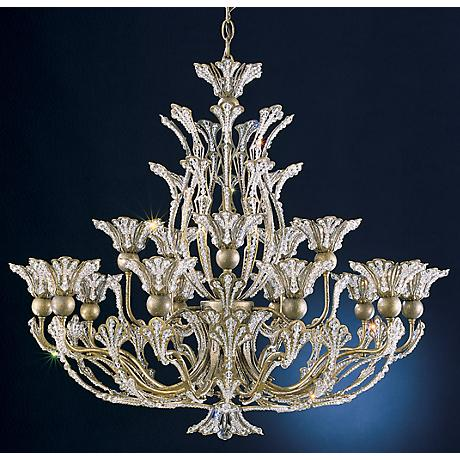 "Schonbek Rivendell Collection 32"" Wide Chandelier"