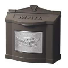 Metallic Bronze With Satin Nickel Wallmount Mailbox