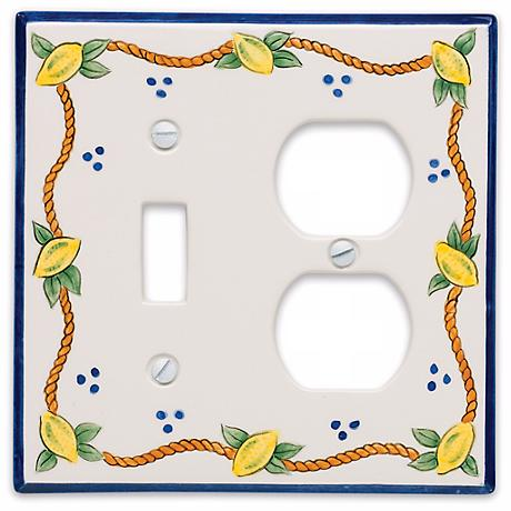 Italian Lemons Combo Outlet Ceramic Wall Plate