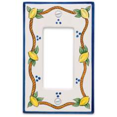 Italian Lemons Single Rocker Ceramic Wall Plate