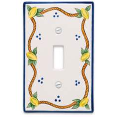Italian Lemons Single Toggle  Ceramic Wall Plate