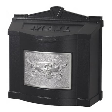 Black With Satin Nickel Wall Mount Mailbox