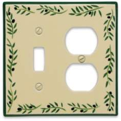 Italian Olive Combination Ceramic Wall Plate