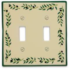 Italian Olive Double Toggle Ceramic Wall Plate