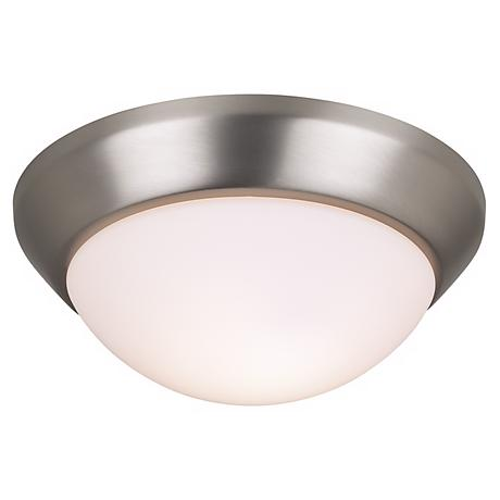 "Kichler Classic Brushed Nickel 10"" Wide Flushmount Light"