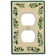 Italian Olive Outlet Ceramic Wall Plate