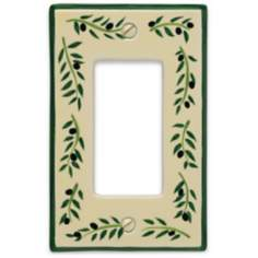 Italian Olive Single Rocker Ceramic Wall Plate