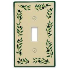 Italian Olive Single Toggle Ceramic Wall Plate
