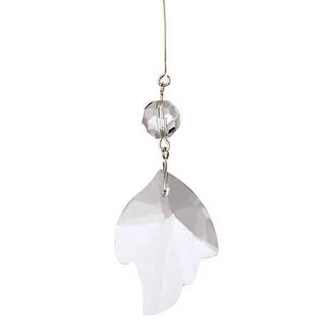 Set of 12 Clear Glass Leaf Shade Drops