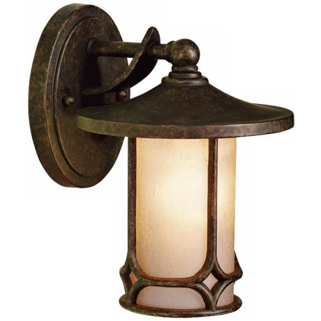 "Kichler Textured Seedy Glass 9 1/2"" High Outdoor Wall Light"