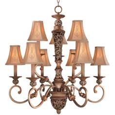 Jessica McClintock's Salon Grand Nine Light Chandelier