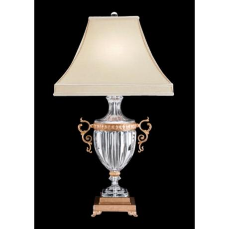 Schonbek Dynasty French Gold Finish Crystal Table Lamp