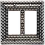 Mandalay Brushed Nickel Double Rocker Wall Plate