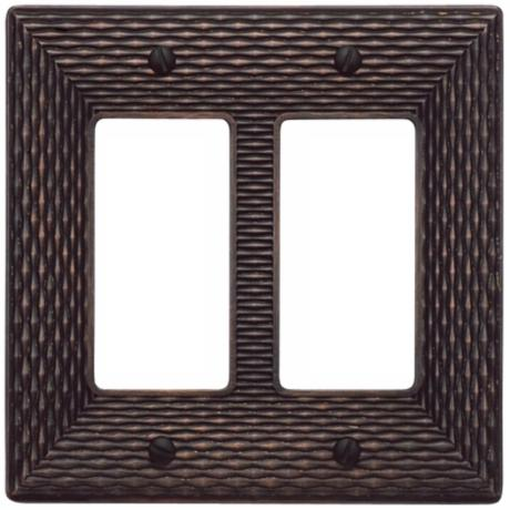Mandalay Venetian Bronze Double Rocker Wall Plate
