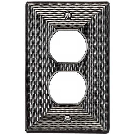 Mandalay Brushed Nickel Power Outlet Wall Plate