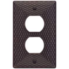 Mandalay Venetian Bronze Power Outlet Wall Plate