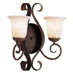 "High Country Collection 17 1/2"" High 2-Light Wall Sconce"