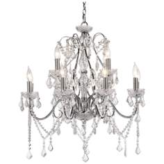 Vienna Full Spectrum™ Chrome and Crystal Grand Chandelier