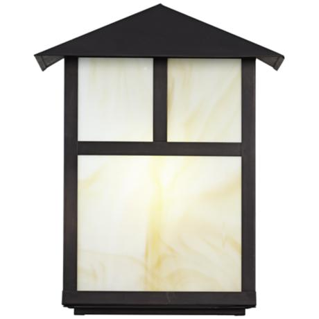 Bronze Mission Style Outdoor Wall Lantern