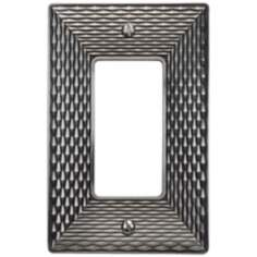 Mandalay Brushed Nickel Single Rocker Wall Plate